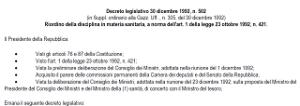 13 - Decreto legislativo 502