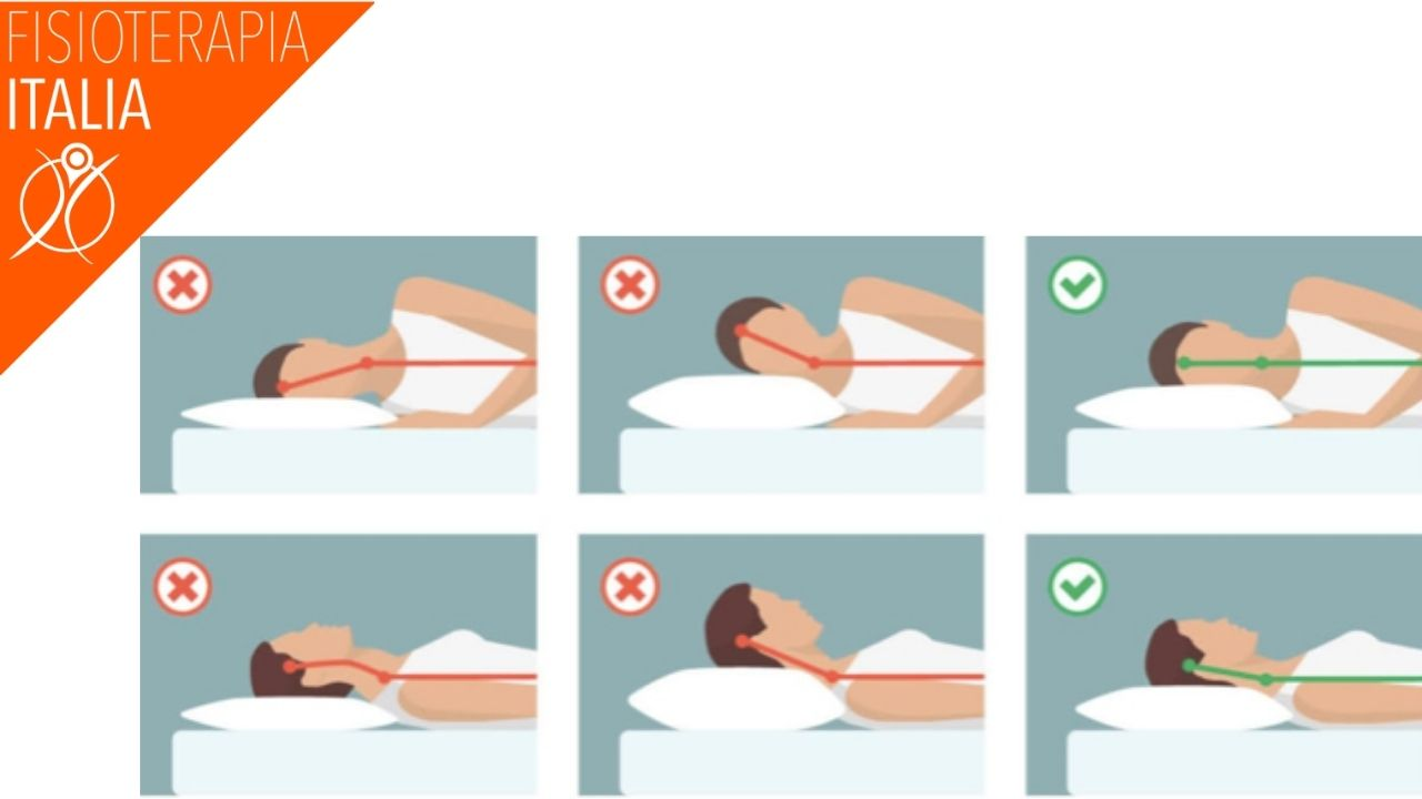 dolori cervicali la posizione corretta per dormire con il cuscino