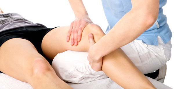 fisioterapia ginocchio gonfio