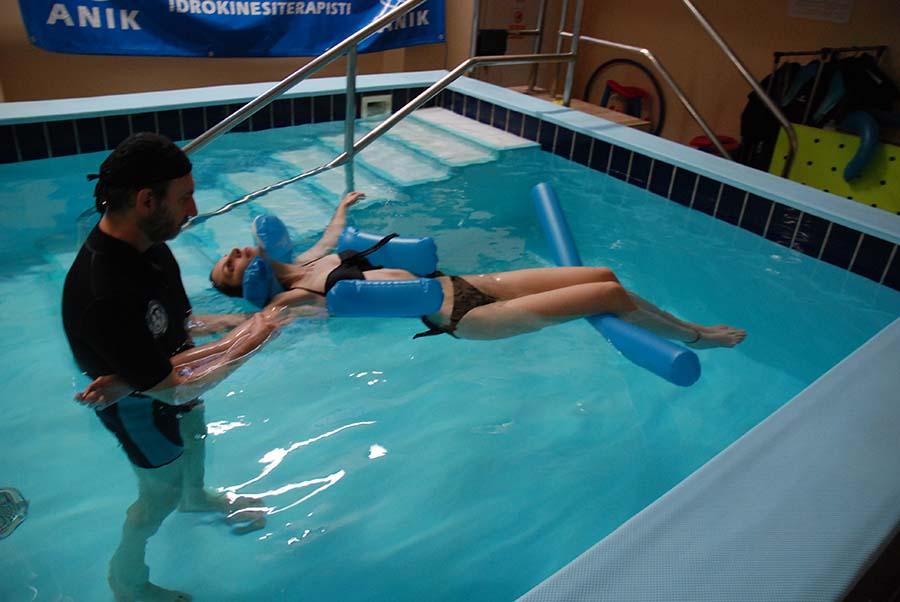 idrokinesiterapia spalla in acqua