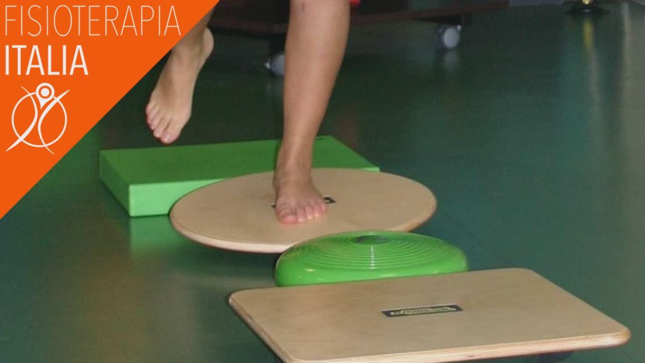 tendinite al piede esercizi propriocettivi
