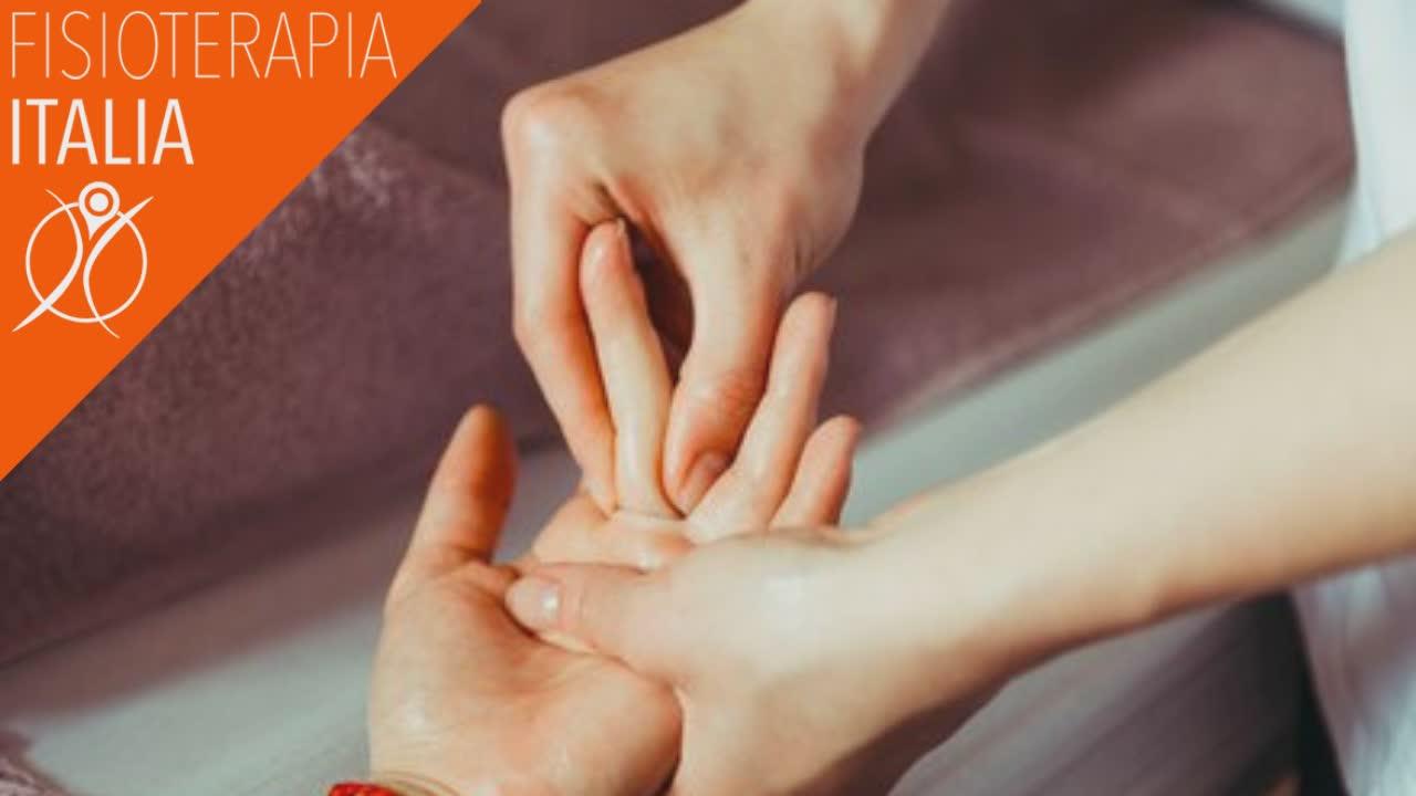 terapia manuale e frigger point per il dito a scatto